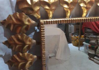 rectangular marco de Hojas en metal