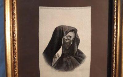 Imagen de seda tejida,Frederick Morgan.virgen