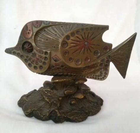 Escultura Pez de bronce de Giovanni Schoeman años 70
