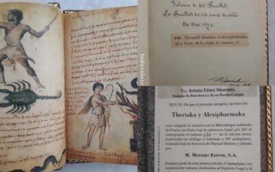Facsímil del libro THERIAKA ALEXIPHARMAKA