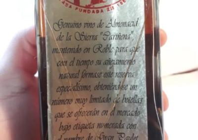Genuino vino de Almonacid de la sierra Cariñena.Martinez Gutierrez.1920 1925