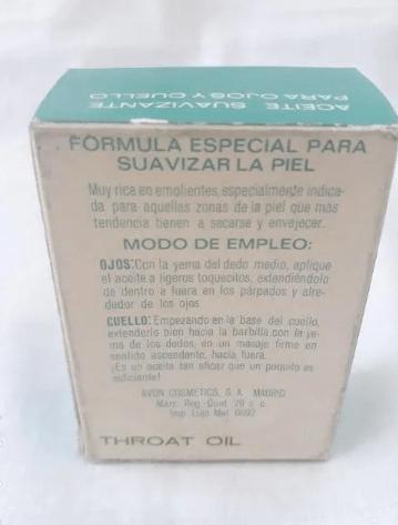 aceite de ojos y garganta Botella De vidrio con instrucciones