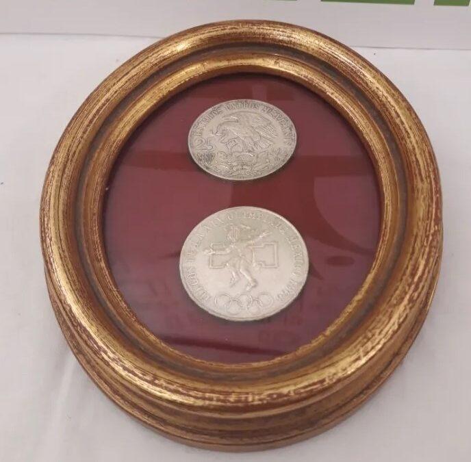 Monedas de plata Mexico juegos de la xix olimpiada mexicana.