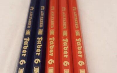 A.W Faber 6 2671, 2670 Germany.Rojo y Azul