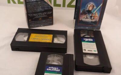 Trilogia la guerra de las galaxias en VHS